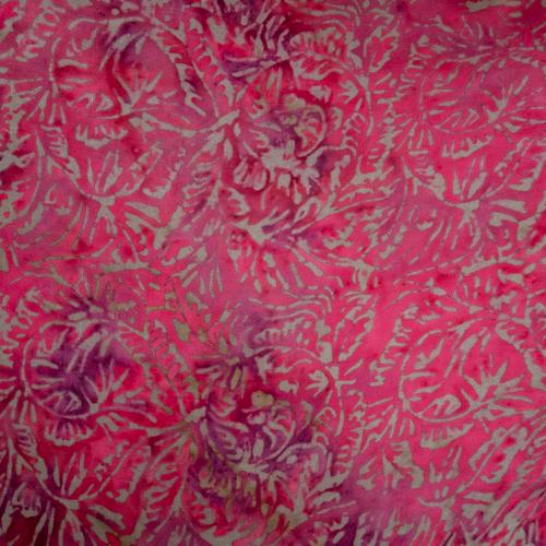 růžový sarong z Bali, pareo na plavky, vzor batiky